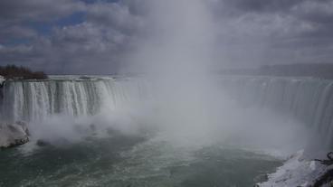 Niagara Falls Horseshoe Falls Slow Motion 01 - 25P Stock Video Footage