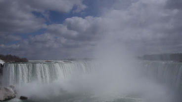Niagara Falls Horseshoe Falls Slow Motion 02 - 24p Stock Video Footage