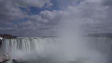Niagara Falls Horseshoe Falls Slow Motion 02 - 24p Footage