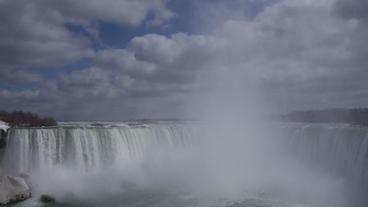 Niagara Falls Horseshoe Falls Slow Motion 02 - 30P Stock Video Footage