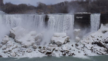 Niagara Falls American Falls Slow Motion 01 - 25P Stock Video Footage