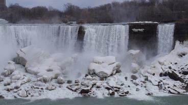 Niagara Falls American Falls Slow Motion 01 - 25P Stock Video Footage