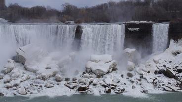 Niagara Falls American Falls Slow Motion 01 - 25P Footage