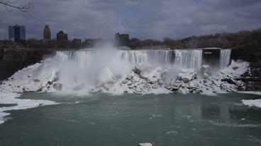 Niagara Falls American Falls Slow Motion 02 - 24p Stock Video Footage