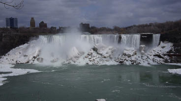 Niagara Falls American Falls Slow Motion 02 - 24p Footage
