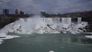 Niagara Falls American Falls Slow Motion 02 - 30P Stock Video Footage