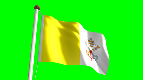Vatican flag Stock Video Footage