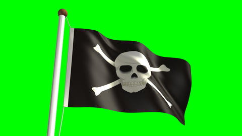 Skull flag Stock Video Footage