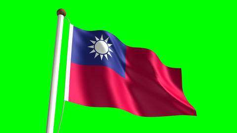 Taiwan flag Stock Video Footage