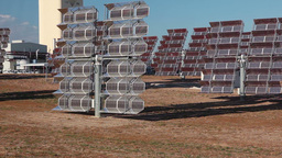 Reflectors of solar power station. Close up Stock Video Footage