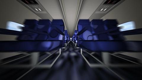 飛行機客室 Animation