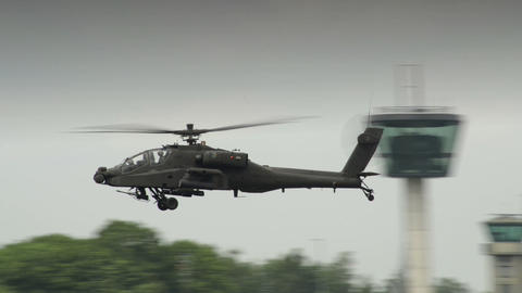 10943 Apache AH 64 Helicopter on patrol Live Action