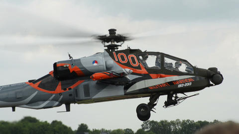 Apache AH 64 Helicopter lift off 10945 Live Action