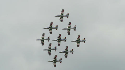 Frecce Tricolori diamond formation 10947 Footage
