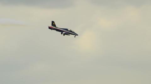 Frecce Tricolori soloist crazy flight 10949 Stock Video Footage
