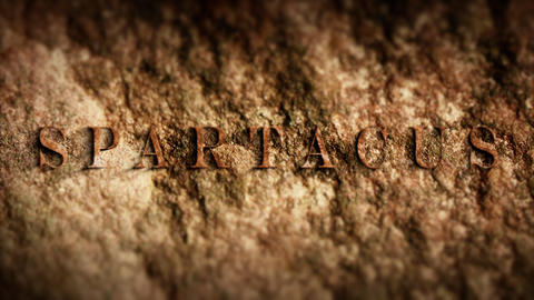 Spartacus The gladiator fugitive oppressed history Stock Video Footage