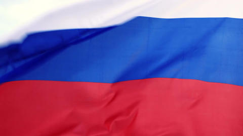 Russian flag waving Stock Video Footage