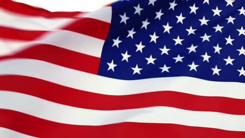 USA flag waving in the wind Stock Video Footage
