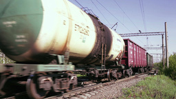 Freight train time lapse Stock Video Footage