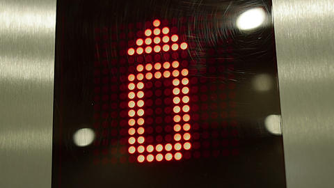 Red elevator digits Stock Video Footage
