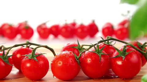 Fresh ripe cherry tomato - dolly shot of tomatoes Stock Video Footage