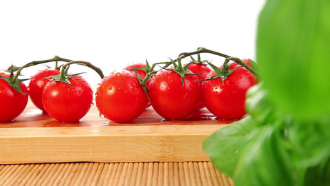 Cherry tomatoes - dolly shot Stock Video Footage