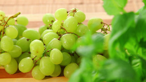 Bunch of fresh sweet grapes - dolly shot of grapes Footage