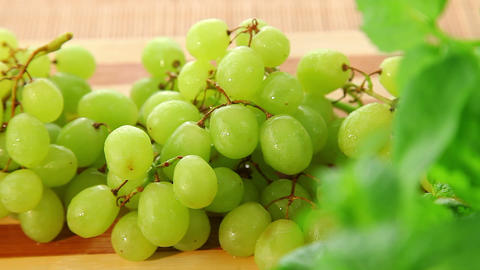 Bunch of fresh sweet grapes - dolly shot of grapes Stock Video Footage