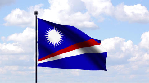 Animated Flag of Marshall Islands / Marshallinseln Animation