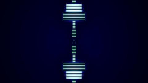 Blue Wave Vertical Animation