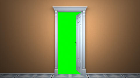 Door to green key Animation