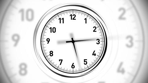 Clocks White Animation