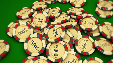 Casino Series Coins 2 Stock Video Footage