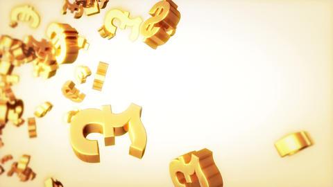 Currencies Loop Golden Stock Video Footage