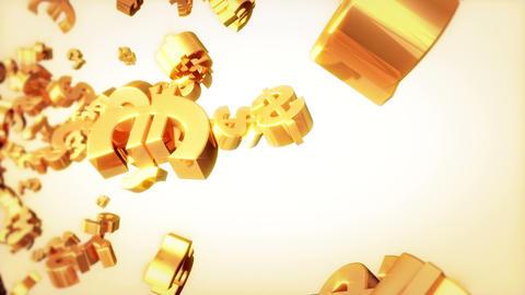 Currencies Loop Golden Animation