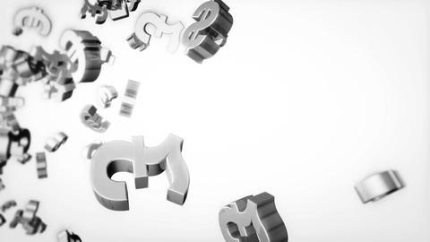 Currency Loop Gray Stock Video Footage