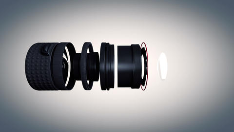 Lens Side View Stock Video Footage