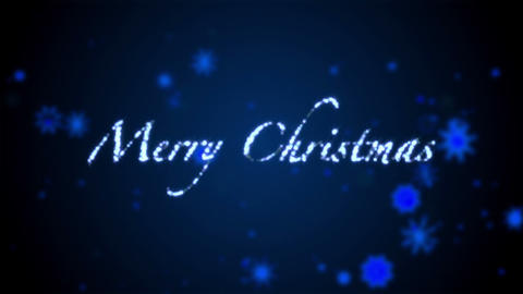 Merry christmas blue Stock Video Footage
