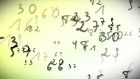 Numbers bright Stock Video Footage