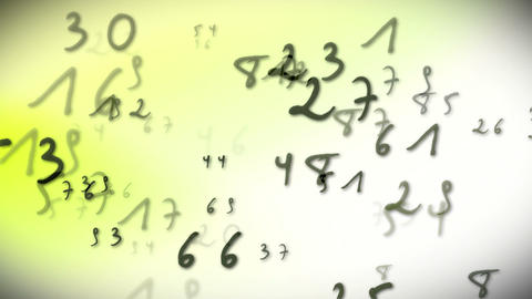 Numbers Bright stock footage