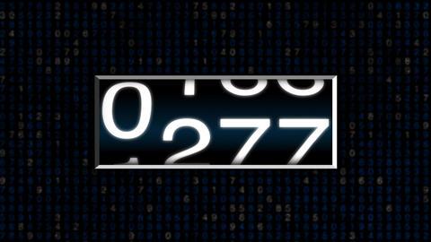 Odo Meter Blue Stock Video Footage