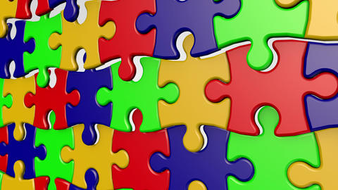 Puzzle Wavy Stock Video Footage