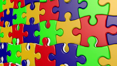 Puzzle Wavy Animation