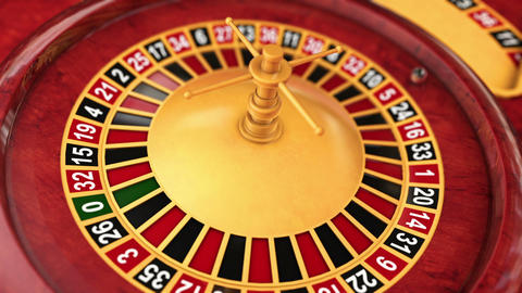 Casino Series Roulette Table stock footage