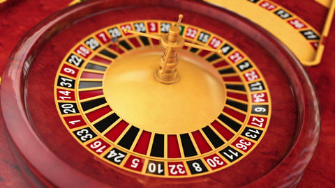 Casino Series Roulette Table Stock Video Footage