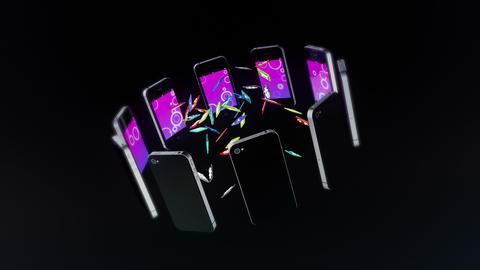 Smart Phone Black Stock Video Footage