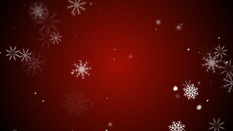 Snow flakes red Stock Video Footage