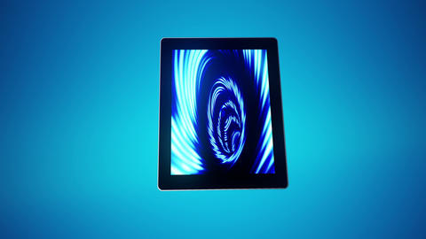 Tablet Moves Blue Animation