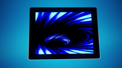 Tablet Moves Blue Stock Video Footage