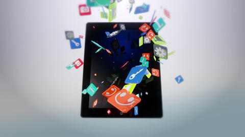 Tablet White Stock Video Footage